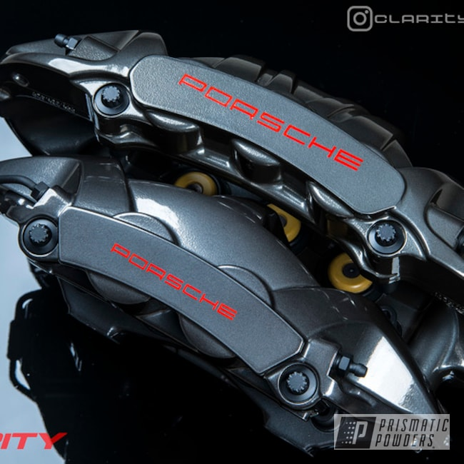 Powder Coated Porsche Brake Calipers