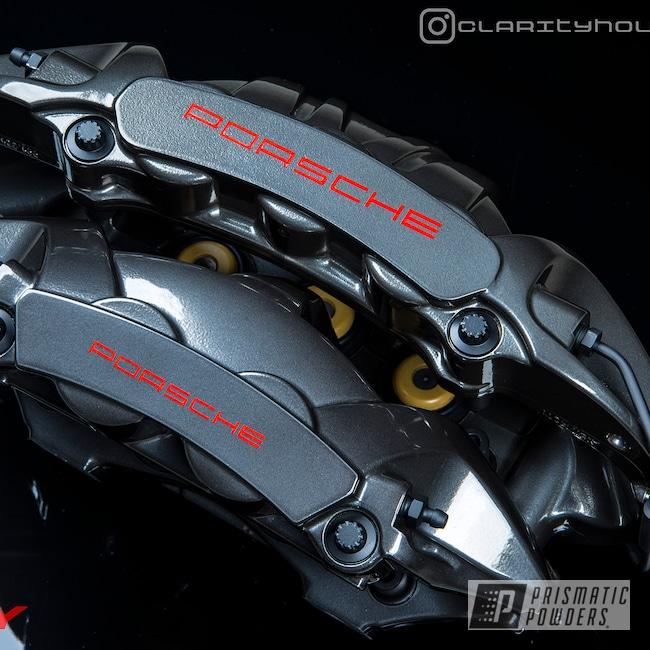 Powder Coating: Black Chrome II PPB-4623,Automotive,Brakes,GT3RS,SUPER CHROME USS-4482,Brembo,Brake Calipers,Porsche,Brake