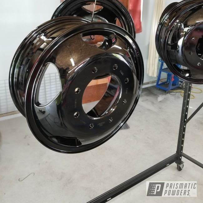 Powder Coating: Wheels,Automotive,GLOSS BLACK USS-2603