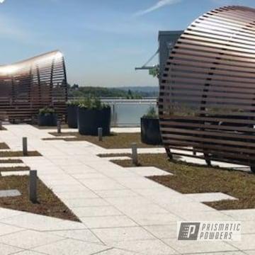 Powder Coated Rooftop Lounge Trellises