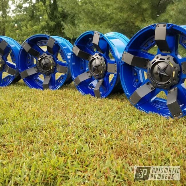 Powder Coating: Wheels,Automotive,Clear Vision PPS-2974,XD Wheels,Illusion Blueberry PMB-6908,Two Tone,XDRockstar