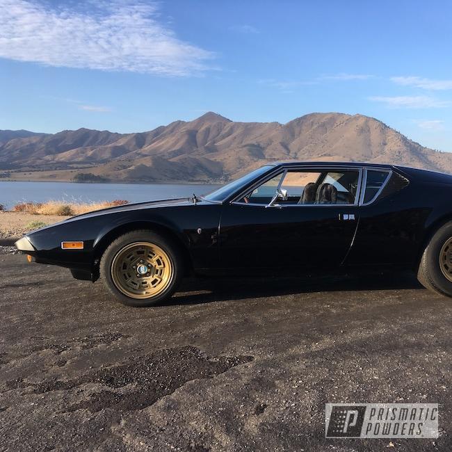 Powder Coating: Wheels,Automotive,Marvic Wheels,Gold Metallic PMS-6374