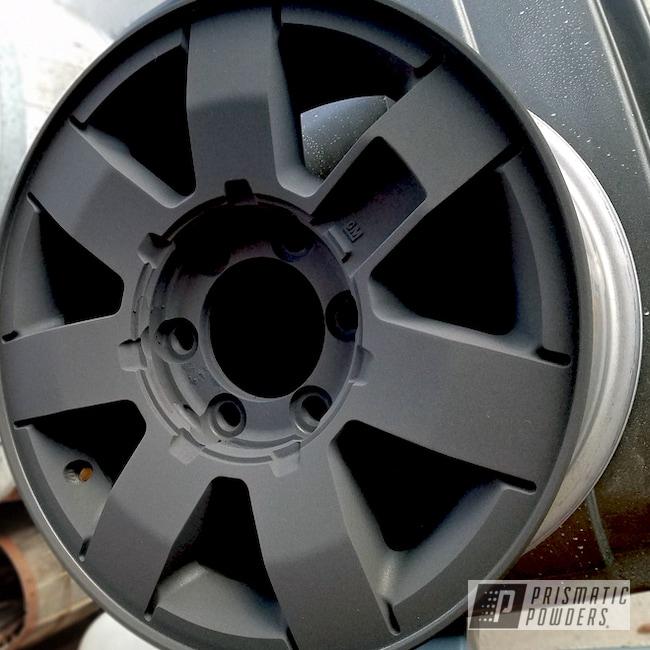 Powder Coating: Wheels,H3 Wheels,Automotive,Black Cast PCS-4721,Custom Powder Coating