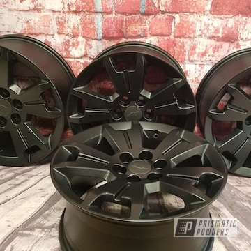 Powder Coated Black 17 Inch Chevy Rims