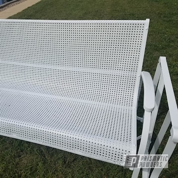 Powder Coated White Metal Glider
