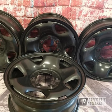 Powder Coated Black 17 Inch Steel Rims