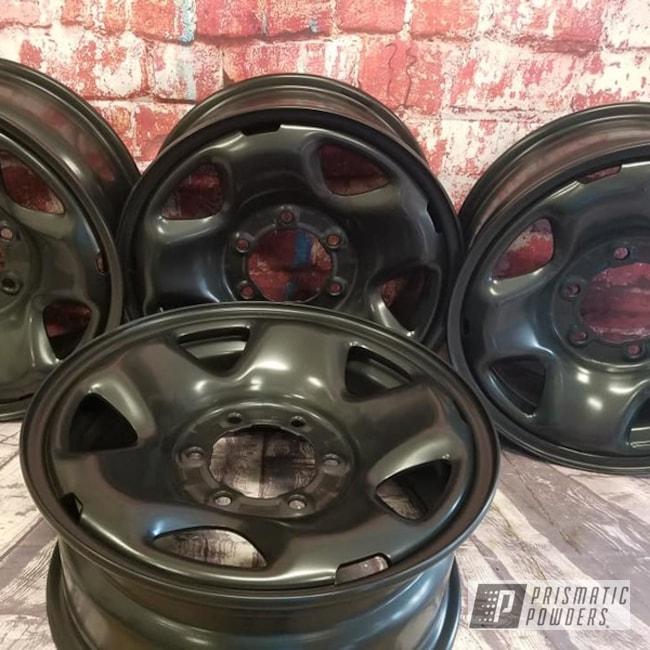 "Powder Coating: Wheels,Automotive,BLACK JACK USS-1522,17"" Steel Wheels,Steel Rims"