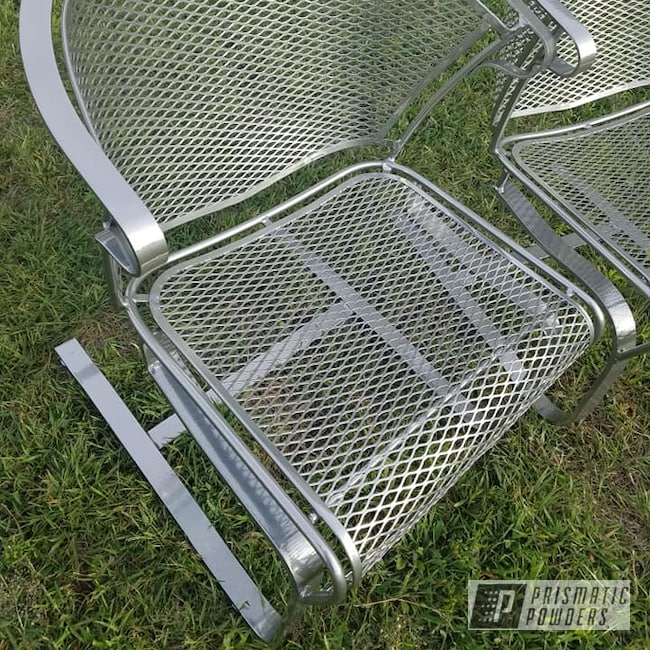 Powder Coating: Clear Vision PPS-2974,SUPER CHROME USS-4482,Super Chrome,2 Stage Application,Patio Funiture,Lawn Chairs