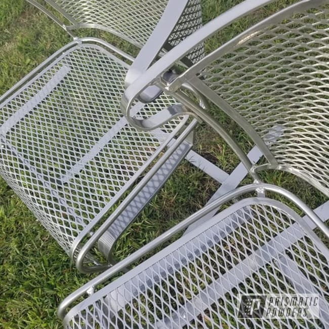 Powder Coating: Clear Vision PPS-2974,SUPER CHROME USS-4482,Patio Furniture,Super Chrome,2 Stage Application,Lawn Chairs