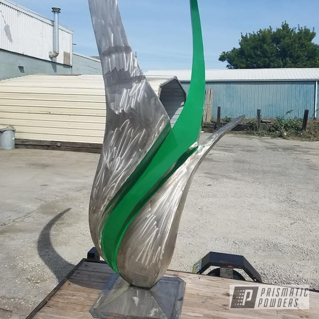 Powder Coating: Sculpture,Metal Art,Art,Miscellaneous,RAL 6001 Emerald Green