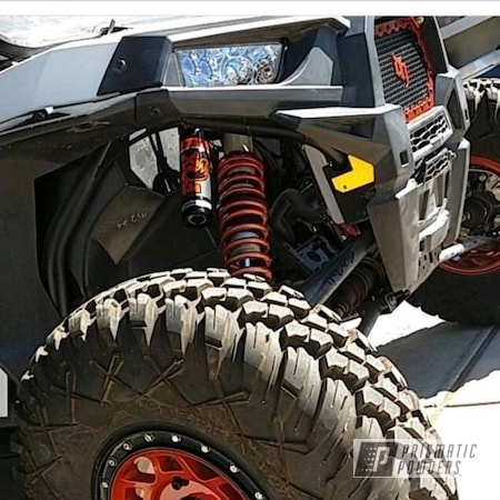 """Powder Coating: Clear Vision PPS-2974,Off-Road,Polaris,RZR,coil springs,14"""" Wheel,Illusion Rootbeer PMB-6924"""