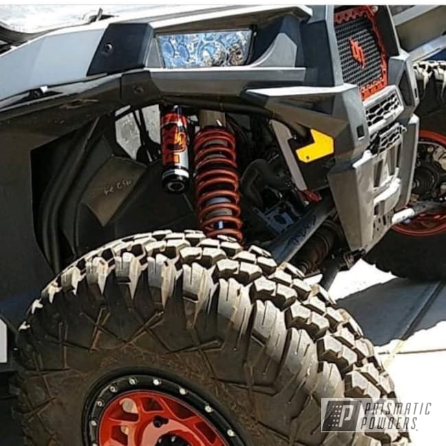 "Powder Coating: Off Road,Clear Vision PPS-2974,Polaris,RZR,coil springs,14"" Wheel,Illusion Rootbeer PMB-6924"