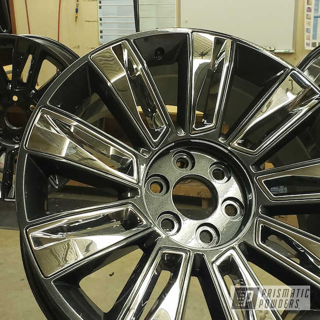 "Powder Coating: Wheels,Automotive,Escalade,22"" Wheels,22"",Cadillac Grey PMB-6377,Cadillac"
