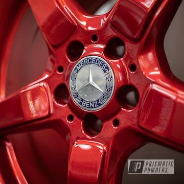 Powder Coated Red 19 Inch Amg Wheels