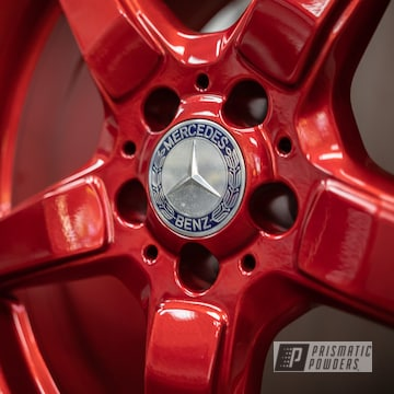 Powder Coated Red 19 Inch Amg Wheels