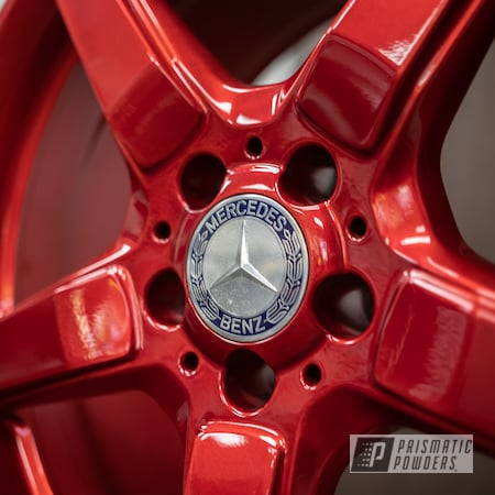 """Powder Coating: Wheels,19"""" Wheels,19"""",Automotive,Red,Mercedes Benz,AMG,powder coating,powder coated,AMG 19x9.5,Rancher Red PPB-6415,Miscellaneous"""