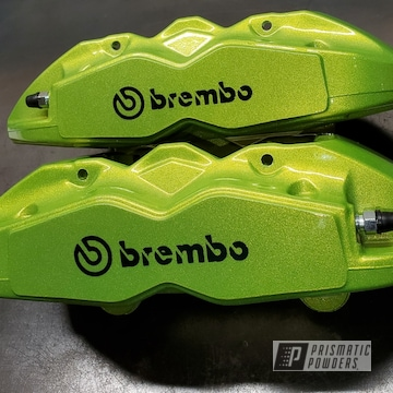 Green Brembo Brake Calipers