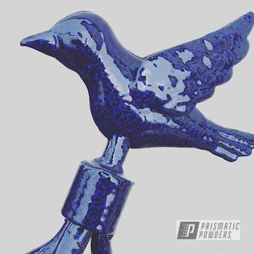 Powder Coated Blue Garden Ornament