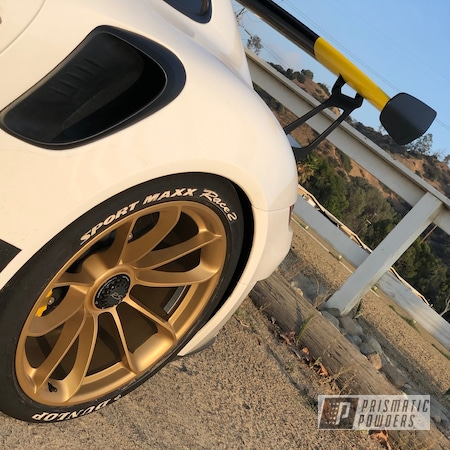 Powder Coating: Wheels,Automotive,Porsche Wheels,Porsche 911,Porsche,Satin Poly Gold PMB-6487