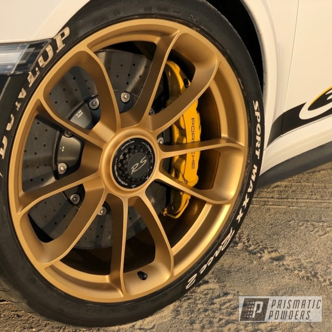 Powder Coating: Wheels,Automotive,Porsche Wheels,Porsche 911,Porsche,Satin Poly Gold PMB-6487