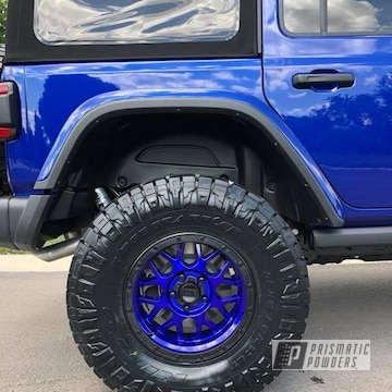Blue Jeep Wheels