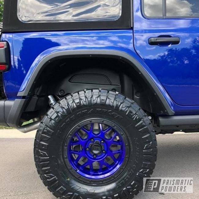 Powder Coating: Wheels,Custom,Automotive,Jeep Rim,Custom Wheels,Intense Blue,Powder Coat Wheels,Heavy Silver,It's a Jeep Thing,Heavy Silver PMS-0517,Powder Coated Jeep Wheel,Jeep,Intense Blue PPB-4474,Jeep Wheels