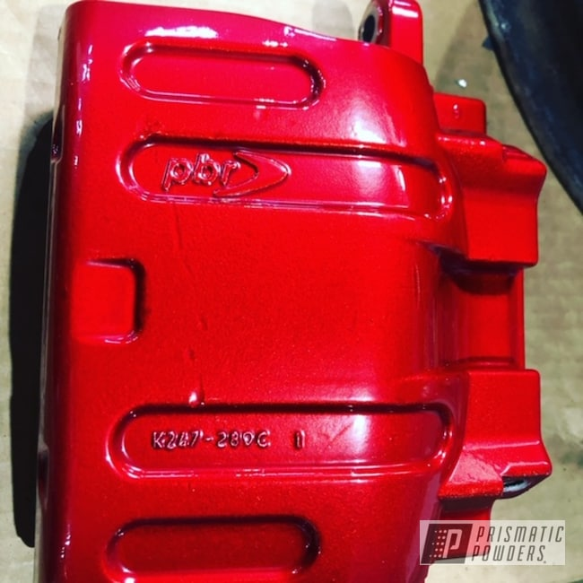 Powder Coating: Automotive,Brakes,LOLLYPOP RED UPS-1506,2 Stage Application,Brake Calipers,Dodge,Dodge Charger