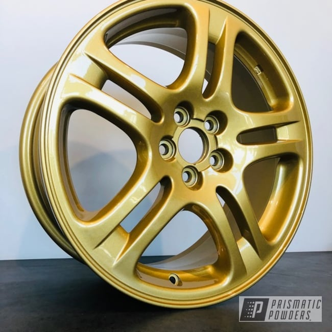 "Powder Coating: Wheels,Subaru WRX,Automotive,Clear Vision PPS-2974,17"" Wheels,Subaru,Spanish Gold EMS-0940"