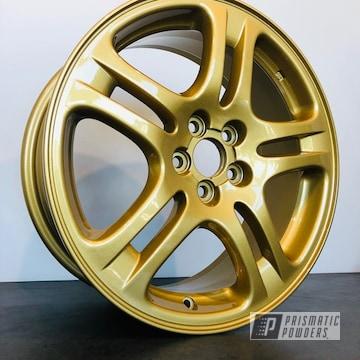 Gold Subaru Wrx 17 Inch Wheel