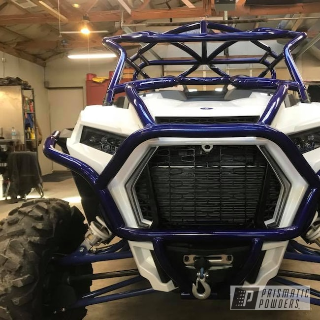 Powder Coating: Custom,Polaris RZR,Clear Vision PPS-2974,Roll Cage,Off-Road,RZR,Powder Coated RZR Cage,Illusion Royal PMS-6925,Rzr Cage,Polaris RZR Custom Roll Cage