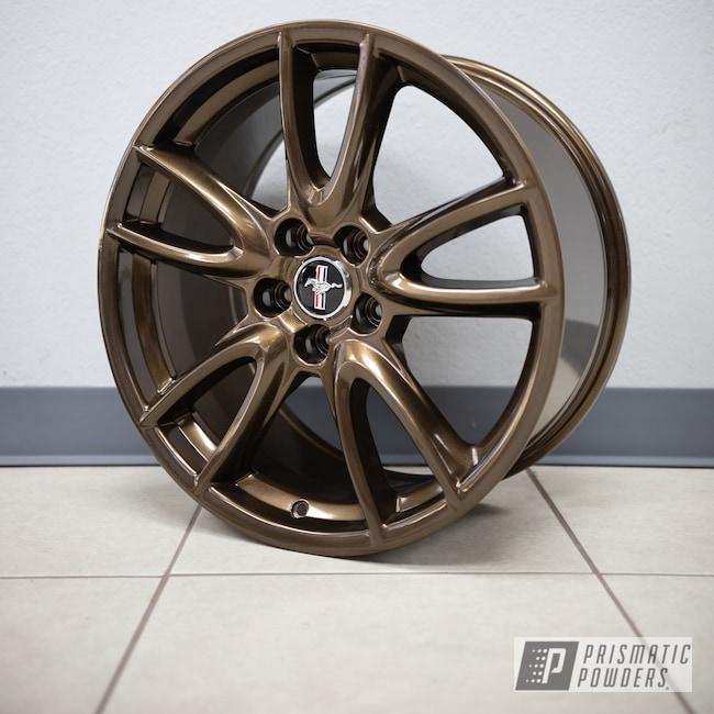 "Powder Coating: Wheels,19"" Wheels,Automotive,Bronze Chrome PMB-4124,powder coating,powder coated,Ford Mustang,Ford,Ford 19x9,Aftermarket"