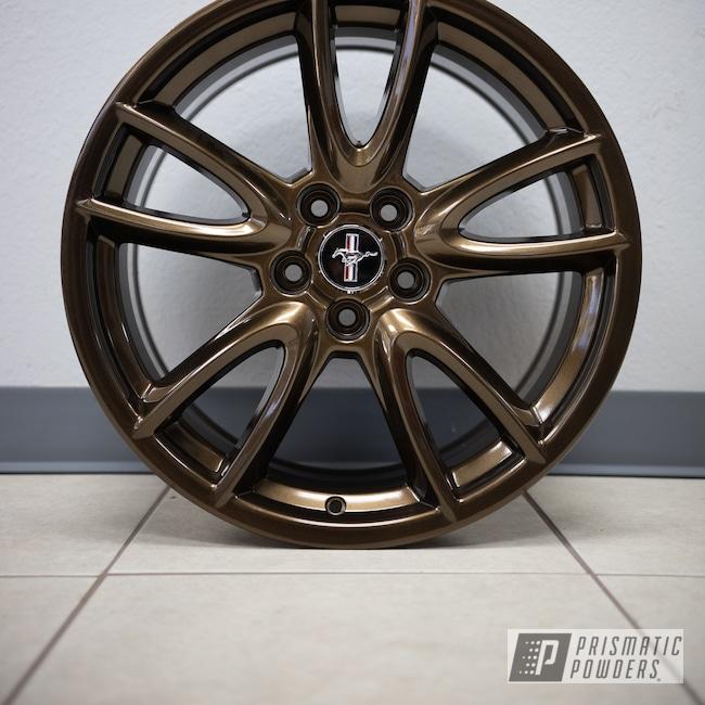"Powder Coating: Wheels,19"" Wheels,Automotive,Bronze Chrome PMB-4124,powder coating,powder coated,Ford Mustang,Ford 19x9,Ford,Aftermarket"