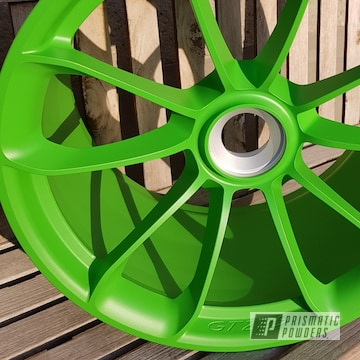 Powder Coated Flat Green 20 Inch Porsche Gt2 Rs Wheels