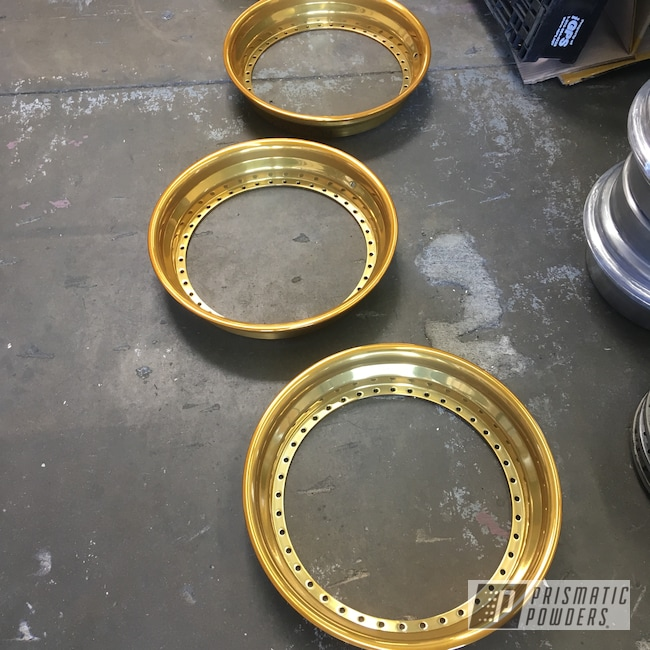 "Powder Coating: Wheels,18"",FORGED CHARCOAL UMB-6578,Automotive,18"",Trans Glitter Gold PPB-8167,Toyota,Heritage Wheels,JZX90"