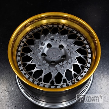 Gold And Charcoal Heritage Fuji Directional Wheels