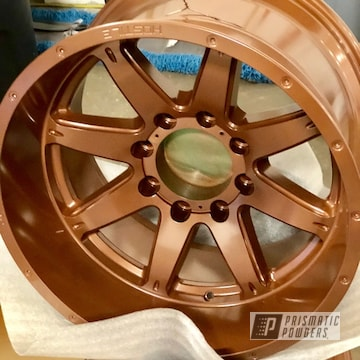 Powder Coated Copper Custom Wheels