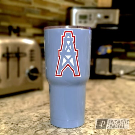 Powder Coating: Tumbler,Really Red PSS-4416,NFL Houston Oilers,Troll Blue PSS-2657,Polar White PSS-5053,Custom Powder Coated Tumbler Cup,Miscellaneous
