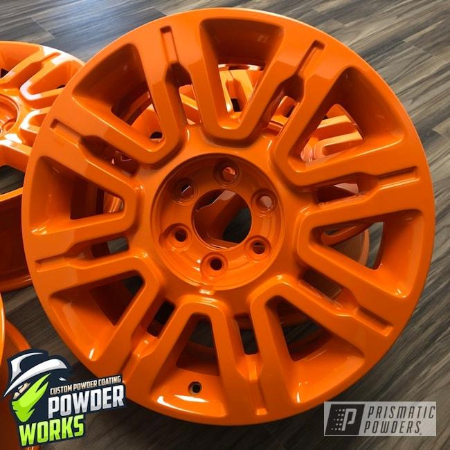 Powder Coating: Wheels,Automotive,Bright Orange PSS-0879