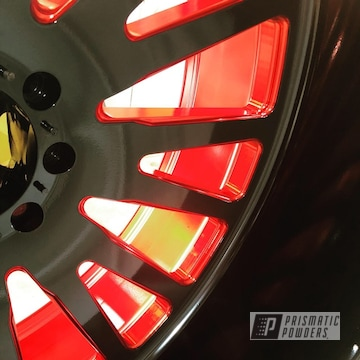Red And Black Two Toned Wheels