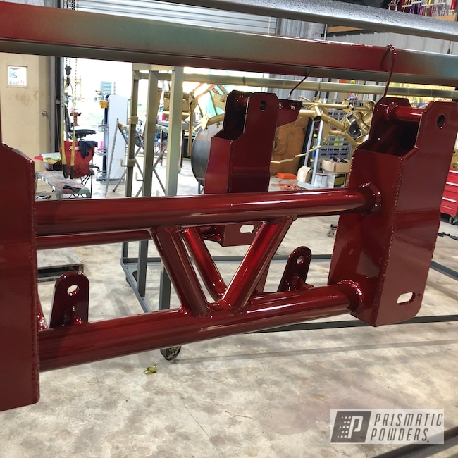 Powder Coating: Gold Smith EMB-2573,Automotive,Custom Auto Parts,Wizard Red PPS-4690