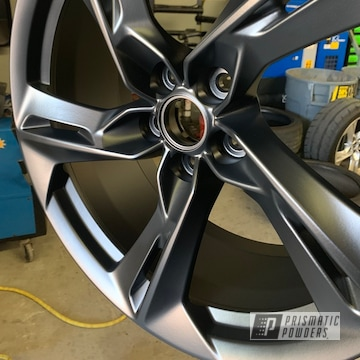 Powder Coated Black Chevy Camaro Wheels