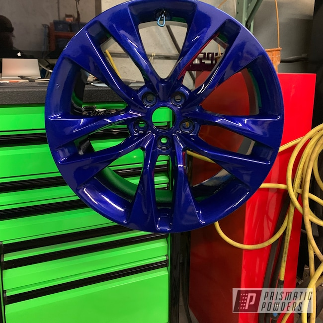 "Powder Coating: Wheels,Automotive,Clear Vision PPS-2974,Acura,20"",Illusion Royal PMS-6925,20"" Wheels"