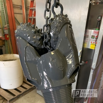Powder Coated Grey Custom Drill Head