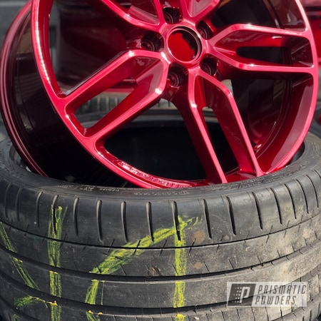 """Powder Coating: Wheels,Automotive,Clear Vision PPS-2974,20"""",Illusion Cherry PMB-6905,20"""" Wheels"""