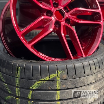 Cherry Red 20 Inch Wheels