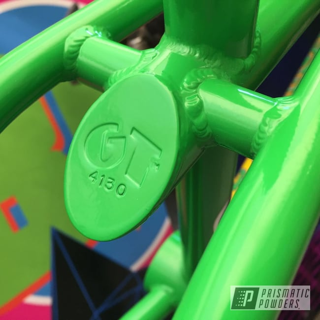 Powder Coating: Bicycles,BMX Frame,Pro Performer,Racer Green PSS-4531,GT Old School BMX,GT