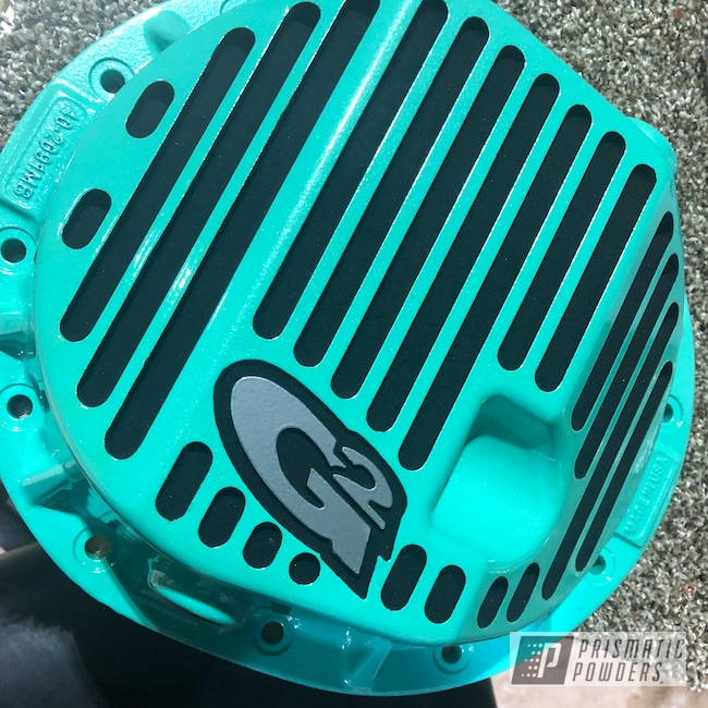 Powder Coating: Tropical Breeze PSS-6837,Automotive,Clear Vision PPS-2974,SUPER CHROME USS-4482,Whipped Pearl Step 2 PPB-6802,Ink Black PSS-0106,Differential Cover,Whipped Pearl Step 1 PMB-6801
