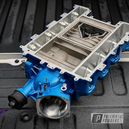 Powder Coating: Automotive,CTS-V,Clear Vision PPS-2974,Chevrolet,Illusion Lite Blue PMS-4621,ZL1,Car Parts,Cars,Camaro ZL1,Supercharger