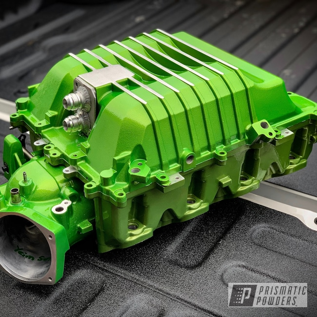 Powder Coating: Automotive,Clear Vision PPS-2974,Illusion Sour Apple PMB-6913,LSA Supercharger,Supercharger
