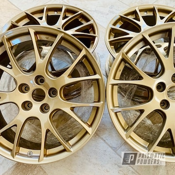 Powder Coated Gold Subaru Sti Wheels
